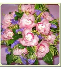 W023-深粉紅蕙蘭花球