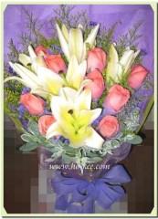 BL-003 百合玫瑰花束