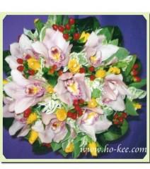 W022-淺粉蕙蘭花球