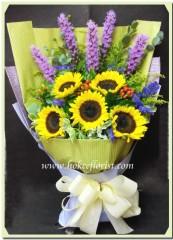 BS009-向日葵馬尾花束