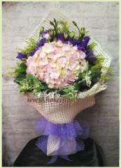 BH008-粉繡球花束