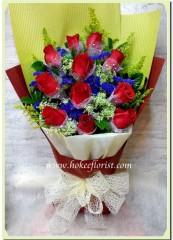 BR003-12枝紅玫瑰花束