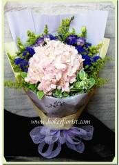 BH005-粉紅繡球花束