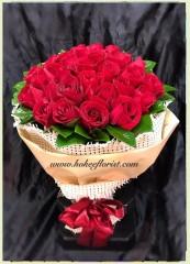 BR026-36枝紅玫瑰花束