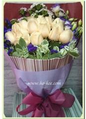 BR009-18枝香檳玫瑰花束