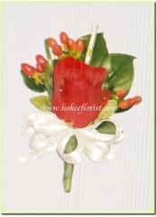 R002-紅玫瑰襟花(富貴籽)