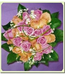 W006-混色玫瑰花球