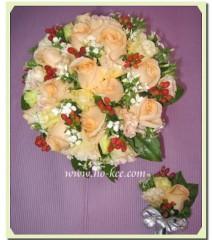 W012-香檳玫瑰花球