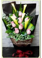 BR008 淺粉玫瑰馬蹄蘭