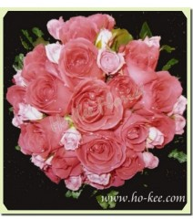 W007-小玫瑰花球