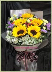 BS017-5枝向日葵花束