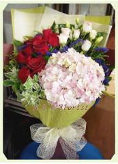 BH006-繡球玫瑰花束