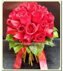 W005-紅玫瑰花球