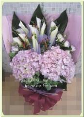 BH003-粉繡球馬蹄蘭花束