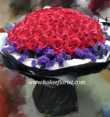 BR031-108枝紅玫瑰花束